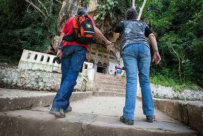 Into the caves along the Mekong river
