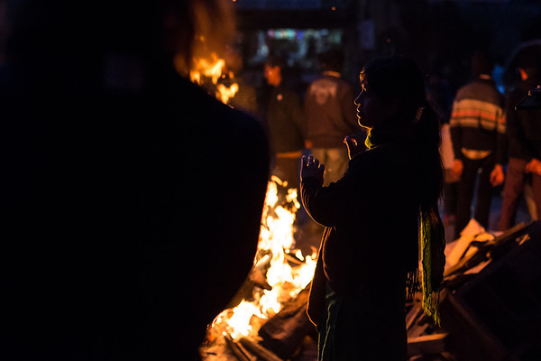 Getting warm - Shivaratri Festival
