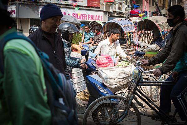 Going to work - Kathmandu