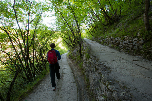 Plitvice National Park, Croatia - walking down