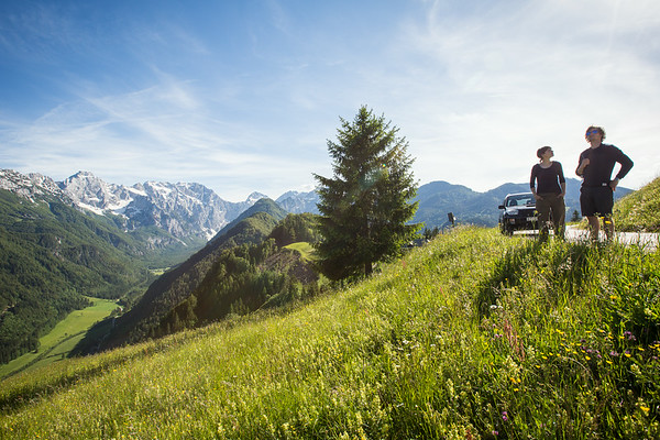 At the panoramical trail in Logar Valley, Slovenia