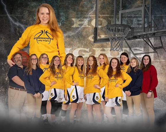 Highschool team portrait layout