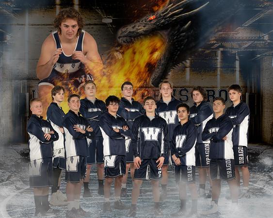 8 x 10 team photo layout