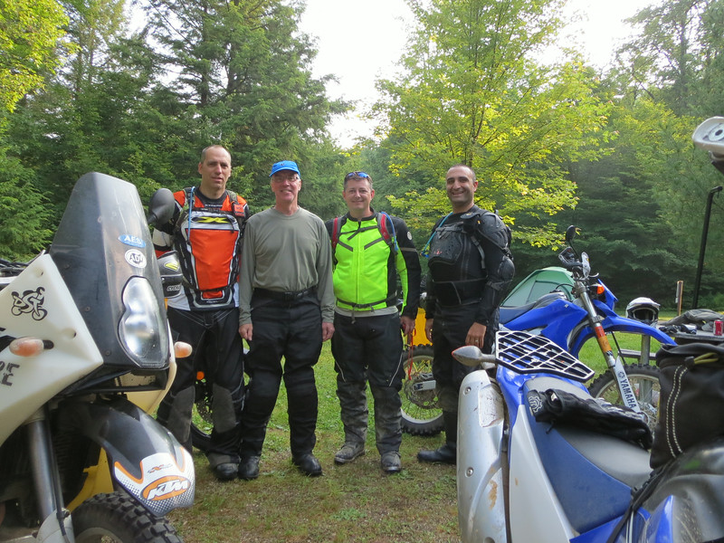 Team photo (always get one before the ride in case someone doesn't make it back!).  L-R: Gorman, Don, Jon, Mark