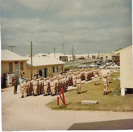 (AA-63) Fort Hood, TX, Company A in formation, khakis