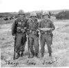(AA-60) Fort Hood, TX, ? (maybe Bean but name tag doesn't look like it--Gilbert?), Tommy Foley, Tharp, bivouac, M-14s