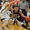 Nathaniel Pardo drives baseline in the first half. Allen Park hosted Inter-City in a boys' basketball non-league game on Friday, Dec. 9, 2016. (MiPrepZone photo gallery by Terry Jacoby)