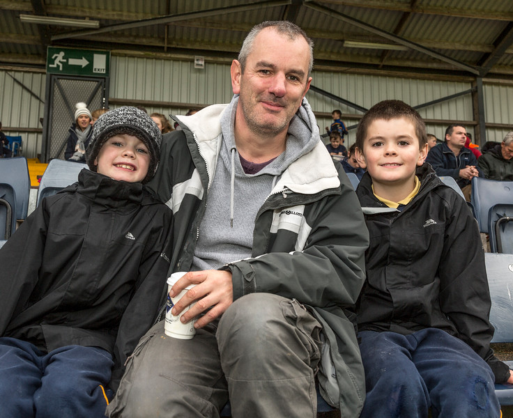 EEjob 13/11/2017 SPORT Allianz Sciath na Scol Finals at Páirc Uí Rinn.  Jim Russell with twins Graham and Cormack. Picture: Andy Jay