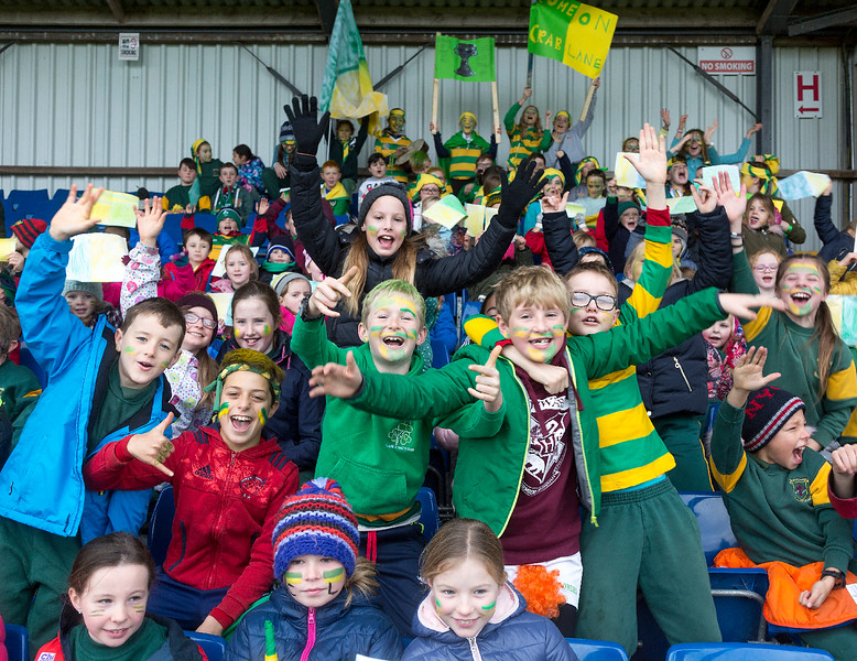 EEjob 13/11/2017 SPORT Allianz Sciath na Scol Finals at Páirc Uí Rinn. Ballintemple  supporters before their final with Clogheen.  Picture: Andy Jay