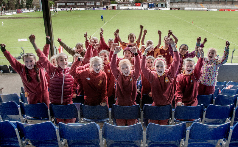 EEjob 13/11/2017 SPORT Allianz Sciath na Scol Finals at Páirc Uí Rinn. Clogheen supporters in good voice before their final against Ballintemple. Picture: Andy Jay