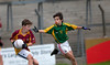EEjob 13/11/2017 SPORT Allianz Sciath na Scol Finals at Páirc Uí Rinn. Glogheen v Ballintemple. Cian O'Brien Clogheen moves to outstep james Ryan of Ballintemple.   Picture: Andy Jay