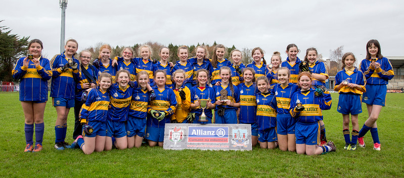 EEjob 13/11/2017 SPORT Allianz Sciath na Scol Finals at Páirc Uí Rinn. Rathduff v Barryroe . Rathduff team with their trophy after victory over Barryroe.  Picture: Andy Jay