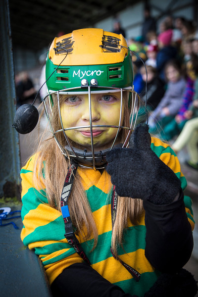 EEjob 13/11/2017 SPORT Allianz Sciath na Scol Finals at Páirc Uí Rinn. Saorsa Wiseman, showing her support for Ballinatemple on Monday, before their final against Clogheen.   Picture:Andy Jay