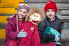 EEjob 13/11/2017 SPORT Allianz Sciath na Scol Finals at Páirc Uí Rinn. Clogheen supporters Emily Risser and Jaxon Horgan with Mascot before their final against Ballintemple.  Picture: Andy Jay