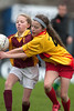 EEjob 13/11/2017 SPORT Allianz Sciath na Scol Finals at Páirc Uí Rinn. Glogheen v  Walterstown. Kitty. Meaney Walterstown and Kelsey Cooper Clogheen. Picture:Andy Jay
