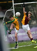 EEjob 13/11/2017 SPORT Allianz Sciath na Scol Finals at Páirc Uí Rinn. Clogheen's Ben Lucy moves to block Jack Hergarty's clearanced for Ballintemple. Picture: Andy Jay
