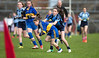 EEjob 13/11/2017 SPORT Allianz Sciath na Scol Finals at Páirc Uí Rinn.  Rathduff v Barryroe  Rathduff's AlisonO'Keefe breaks away from Barryroe's  Lucy O'Flynn.  Picture: Andy Jay