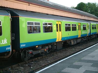 Car 57202 (ex 150202) from 150009 at Stratford upon Avon