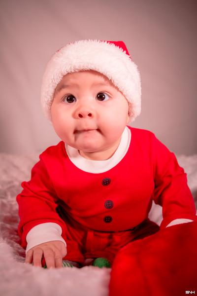 Elijah - Six Month Christmas Pictures