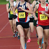 Central Catholic High School senior Sarah Freeman competes in the mile during the All State Meet at Elliot Field Athletic Complex at Fitchburg State University on Saturday, June 2, 2018. SENTINEL & ENTERPRISE/JOHN LOVE