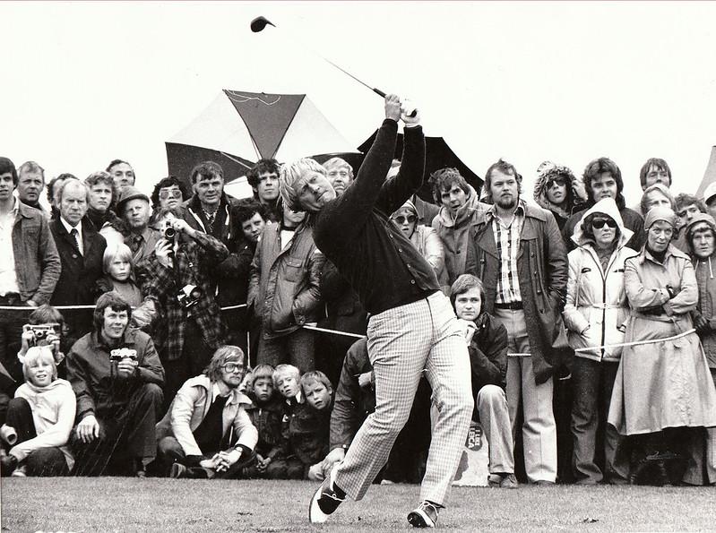 Frá golfsýningu Jack Nicklaus á Nesvellinum 1976.