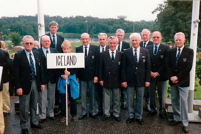 Landslið öldunga. Fv. Sveinn Snorrason GR, Sverrir Einarsson GV, Karl Hólm GK, Eiríkur Smith GK, Hafsteinn Júlíusson GR, Sigurður Guðmundsson NK, Vilhjálmur Ólafsson GR, Knútur Björnsson GK, Alfreð Viktorsson GL, Svan Friðgeirsson GR, Gísli Sigurðsson, GK.