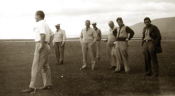 1944 - frá Íslandsmótinu. Gísli Ólafsson meistari fremstur.