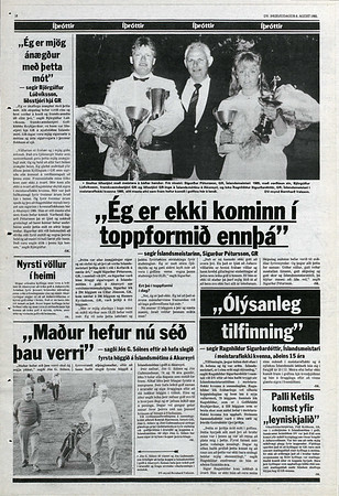 Meistari í þriðja sinn 1985