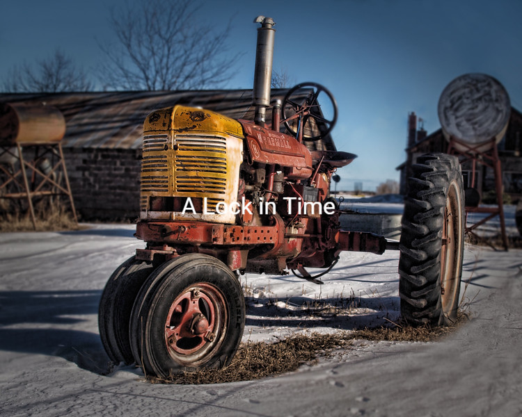This old tractor sits on afarm in Laveta Colorado