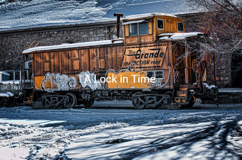 I revisited this old caboose a few years after I did the original shot. Funny, nothing changed