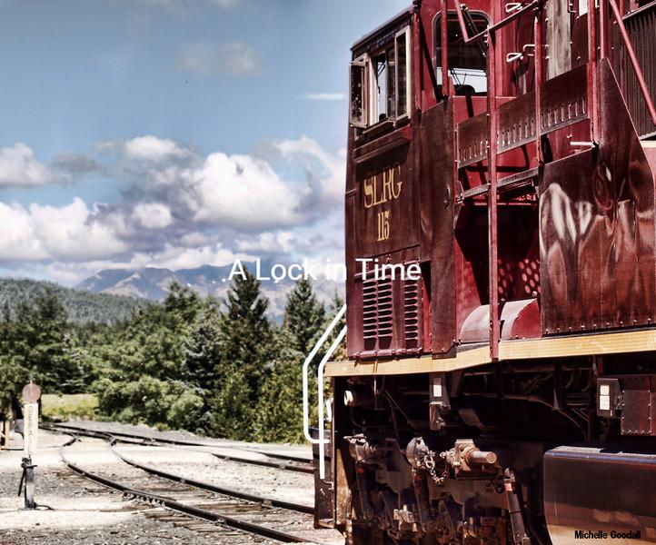 The Rio Grande railway's diesel engine en route over LaVeta pass