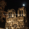 notre dame with moon