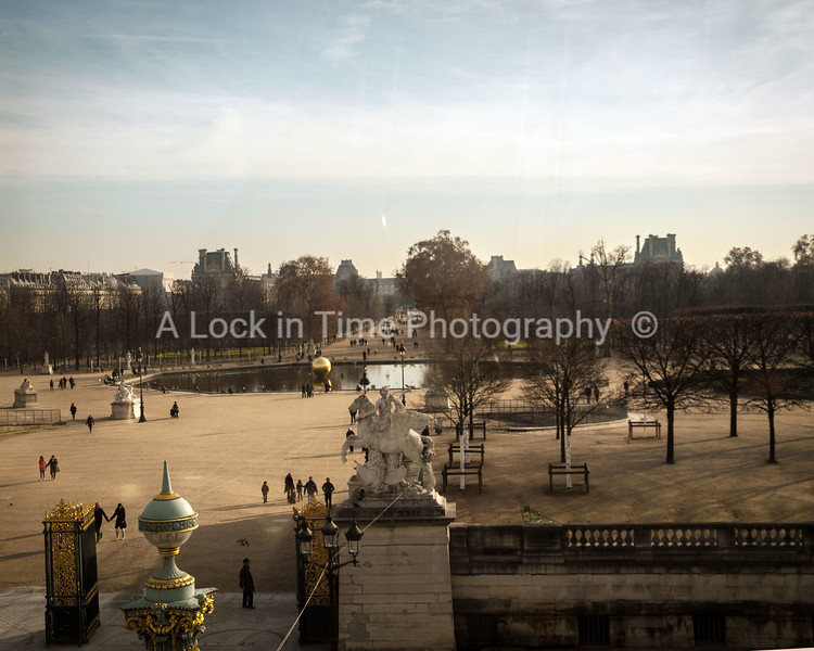 louvre grounds from the ferris wheel