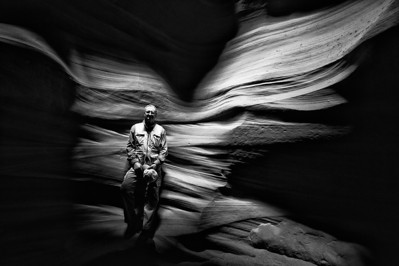 Dave at Upper Antelope Canyon, Arizona<br /> Thank you to Jerry Sieve Photography of Cave Creek, Arizona