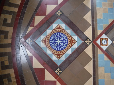 Beautiful tile work in the tower from which you could see the view over Victoria
