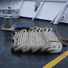 The rope work on a ship is always pleasing to the eye