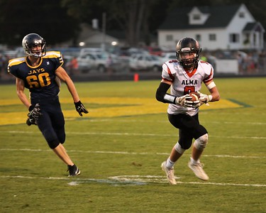 Second-ranked Alma ran past rival Shepherd Friday in TVC Central action from Veteran's Memorial Stadium. (Sun Photos by STEVE CHOVANEC)