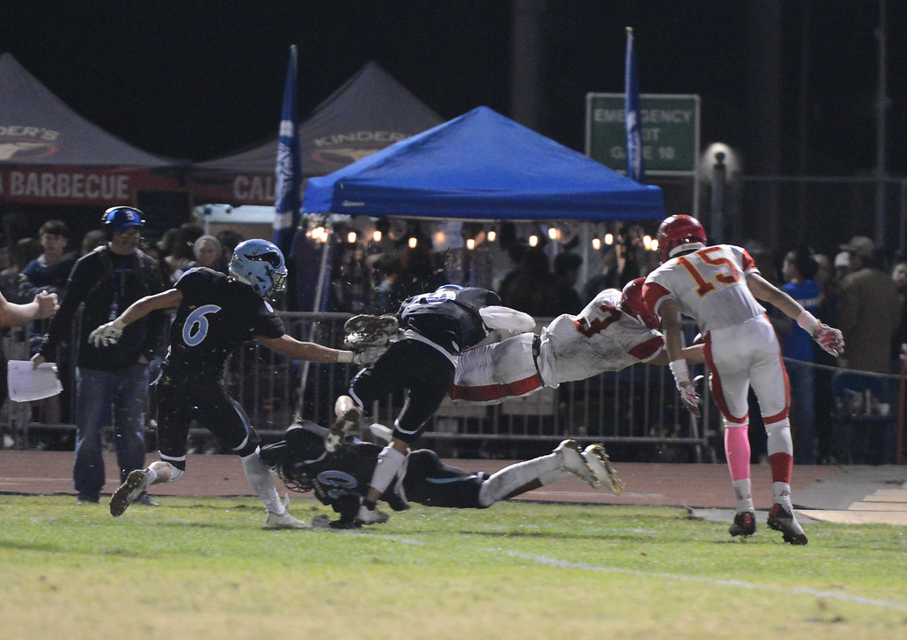 . Chico High and Pleasant Valley battle for the 47th Almond Bowl title Friday October 20, 2017 in Chico, California. (Emily Bertolino -- Enterprise-Record)