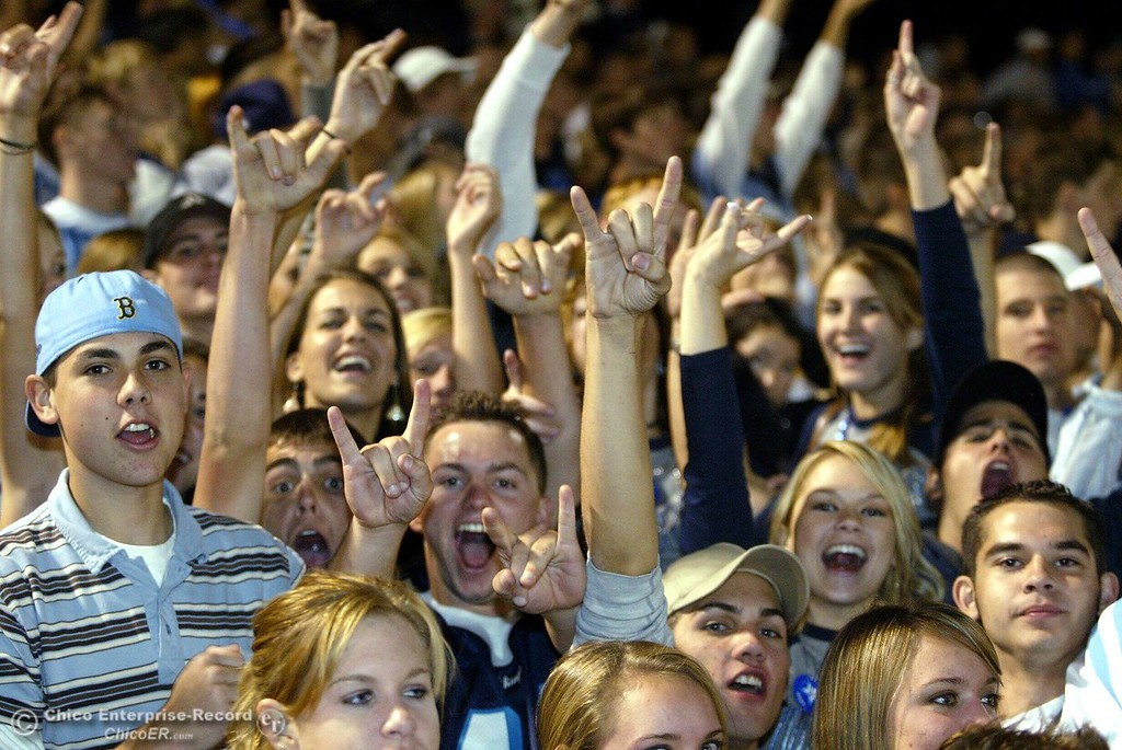 . PV crowd During Chico PV football Almond Bowl Friday 2005 at the University Stadium. PV won 28-22 - halley photo 10/14/05