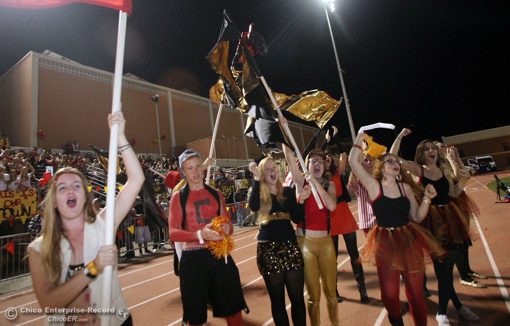 . Chico High against Pleasant Valley High in the second quarter during their Almond Bowl XLI football game at CSUC University Stadium Friday, October 21, 2011 in Chico, Calif. (Jason Halley/Chico Enterprise-Record)