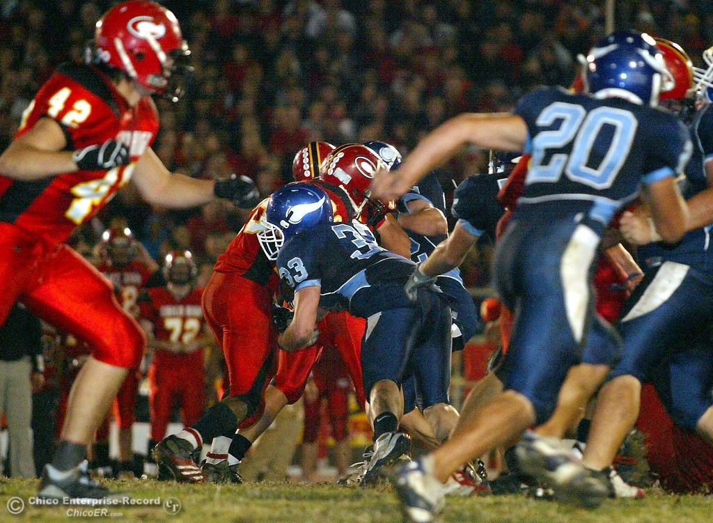 . Chico High against Pleasant Valley High in the second quarter of their 2008 Almond Bowl Football game Friday, October 17, 2008 at CSUC University Stadium in Chico, CA. 