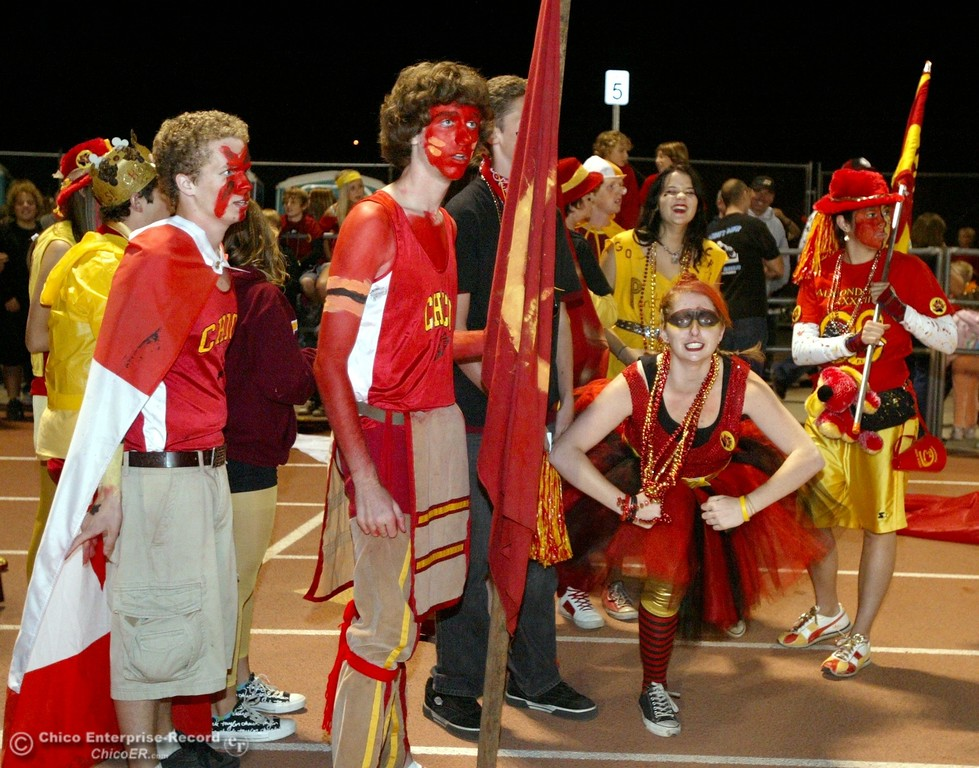 . Chico High fans against Pleasant Valley High in the first quarter of their 2008 Almond Bowl Football game Friday, October 17, 2008 at CSUC University Stadium in Chico, CA. 