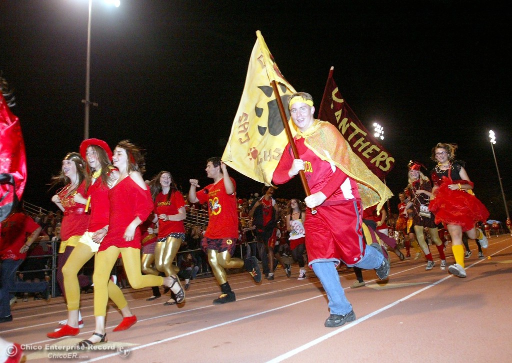 . Chico High fans against Pleasant Valley High in the second quarter of their 2008 Almond Bowl Football game Friday, October 17, 2008 at CSUC University Stadium in Chico, CA. 