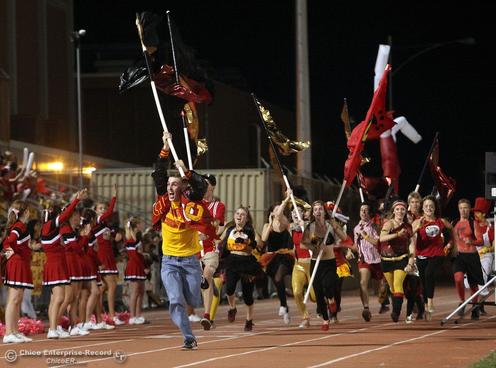 . Chico High fans against Pleasant Valley High in the second quarter during their Almond Bowl XLI football game at CSUC University Stadium Friday, October 21, 2011 in Chico, Calif. (Jason Halley/Chico Enterprise-Record)