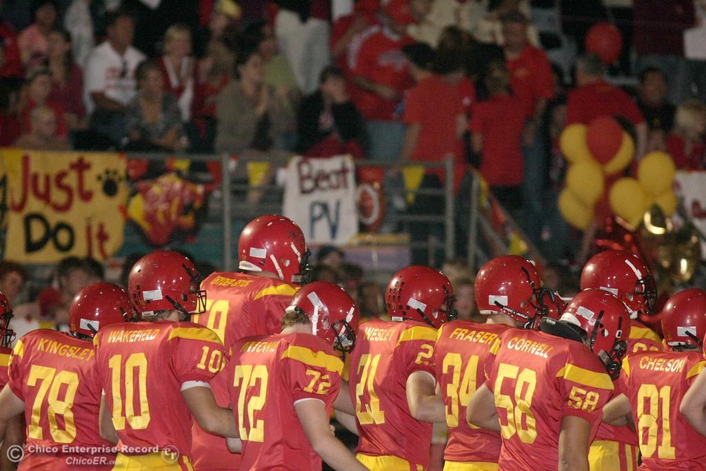 . Chico High against Pleasant Valley High in the first quarter of their Almond Bowl football game at CSUC University Stadium Friday, October 16, 2009 in Chico, Calif. (Jason Halley/Chico Enterprise-Record)