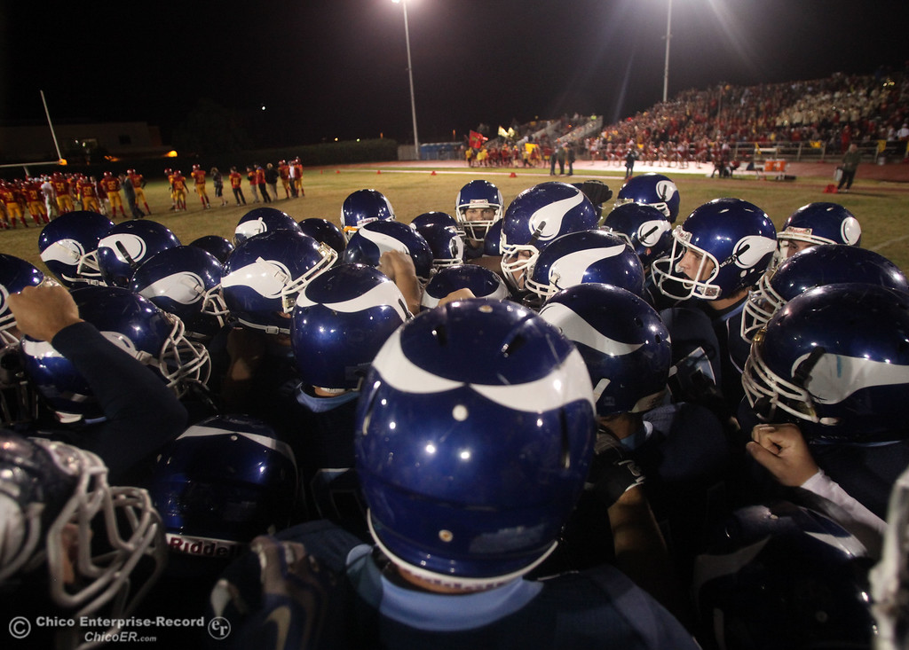 . Pleasant Valley High against Chico High in the first quarter of their Almond Bowl football game at CSUC University Stadium Friday, October 22, 2010 in Chico, Calif.