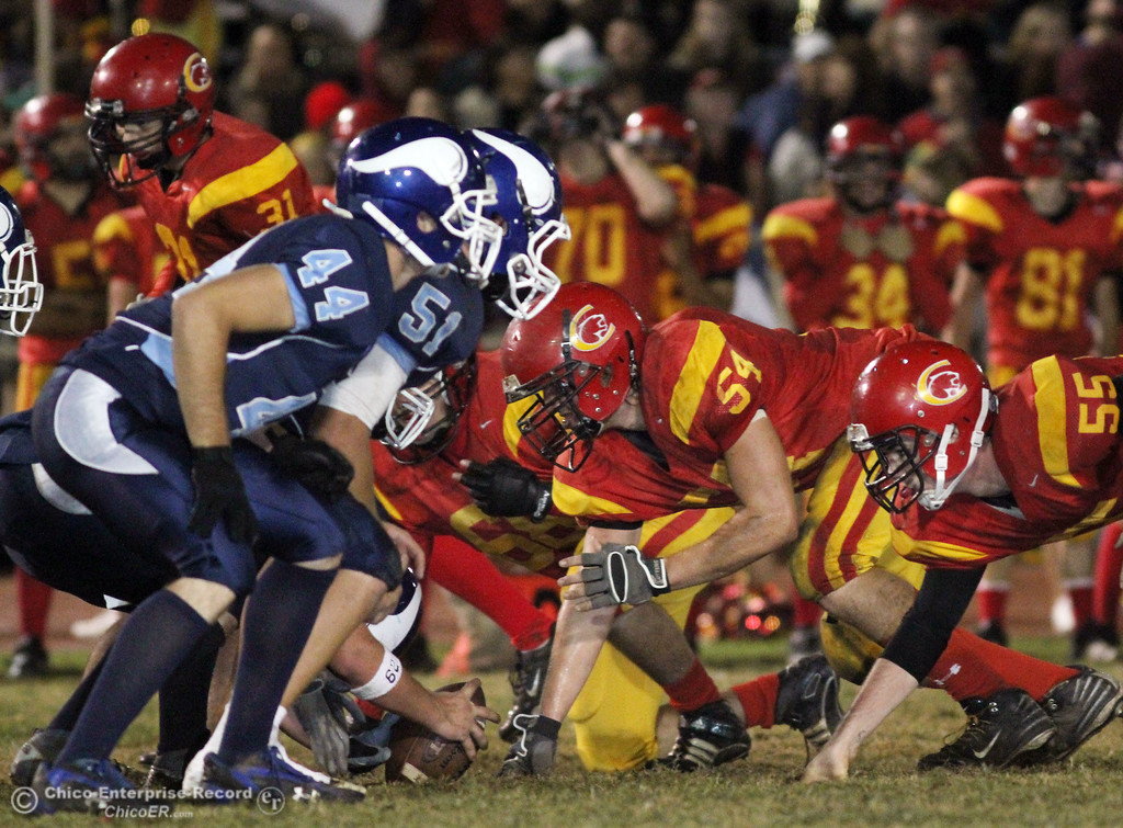 . Pleasant Valley High against Chico High in the second quarter of their Almond Bowl football game at CSUC University Stadium Friday, October 22, 2010 in Chico, Calif.