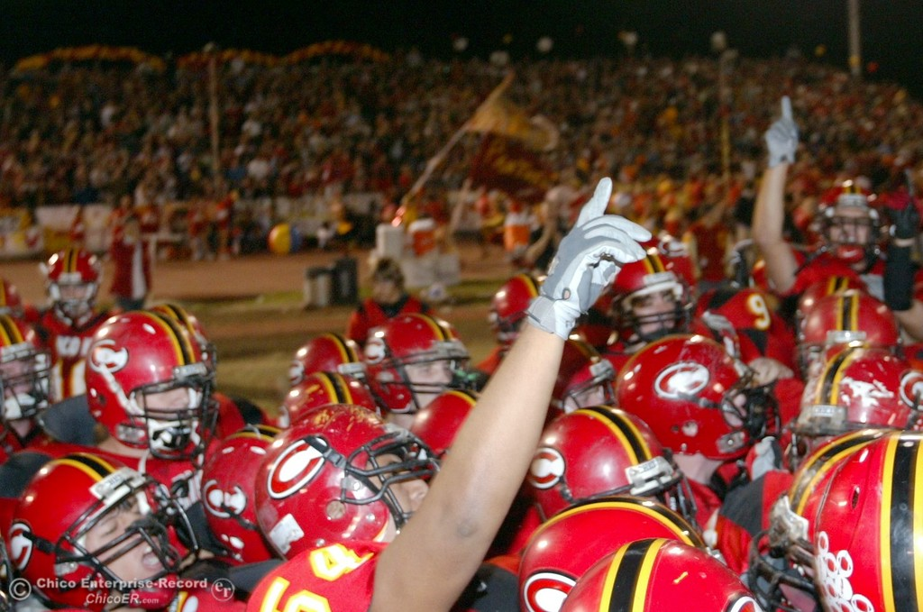 . Chico High readies to start against Pleasant Valley High in the first quarter of their 2008 Almond Bowl Football game Friday, October 17, 2008 at CSUC University Stadium in Chico, CA. 