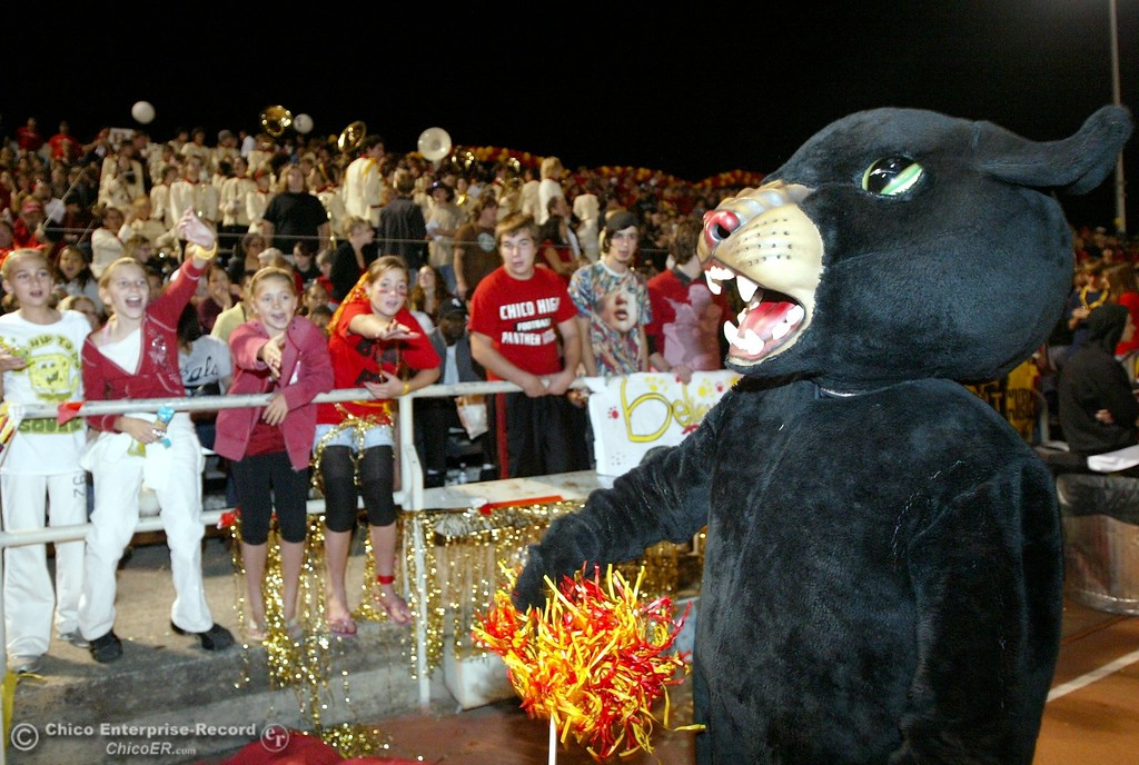 . Chico High mascot against Pleasant Valley High in the first quarter of their 2008 Almond Bowl Football game Friday, October 17, 2008 at CSUC University Stadium in Chico, CA. 
