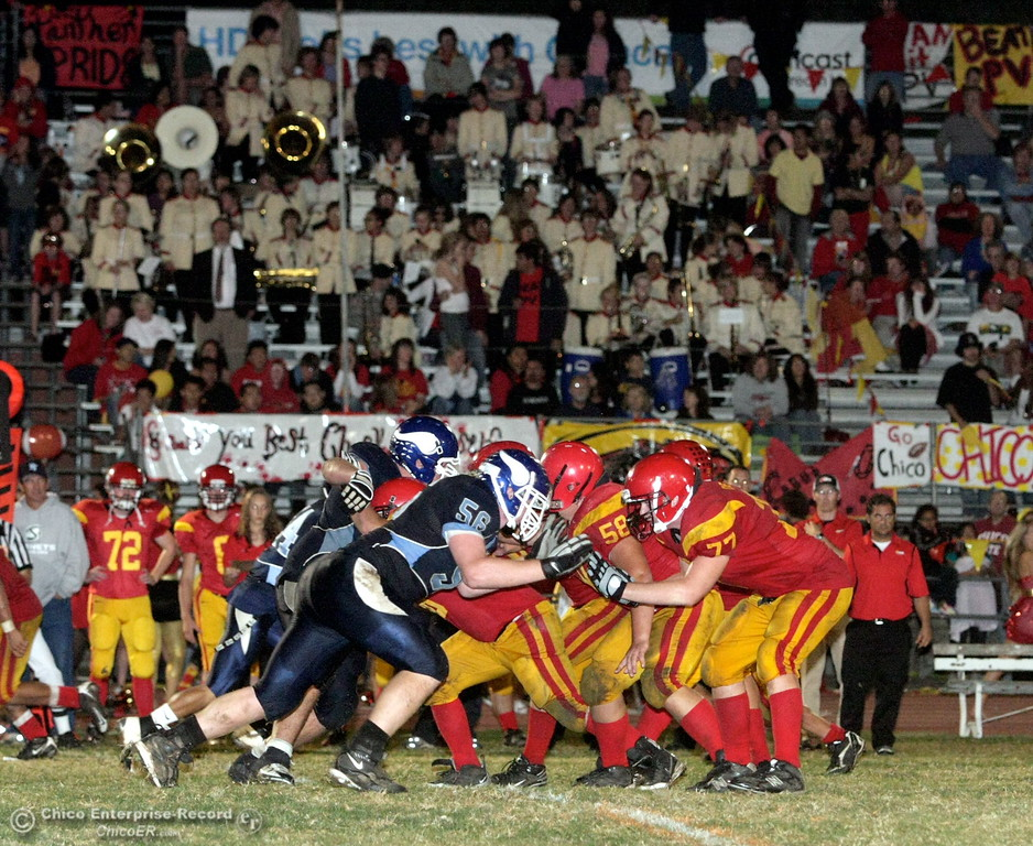 . Chico High against Pleasant Valley High in the first quarter of their Almond Bowl football game at CSUC University Stadium Friday, October 16, 2009 in Chico, Calif.